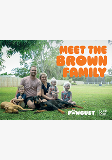 Postcard 1 - The Brown Family