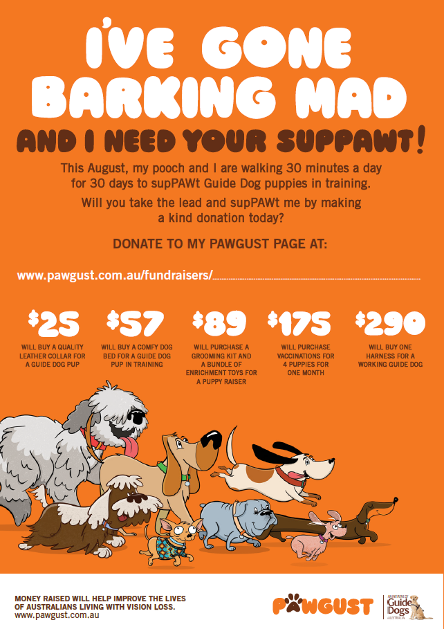 I've Gone Barking Mad - Editable Fundraising Poster