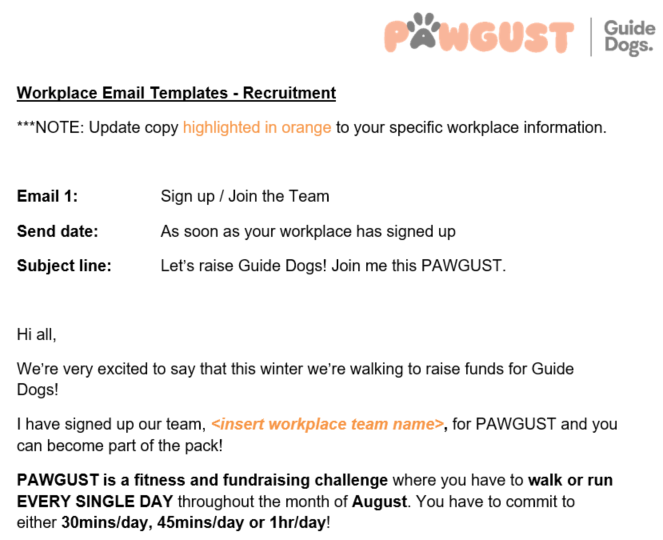 Email Templates - Sign Up and Join the Team
