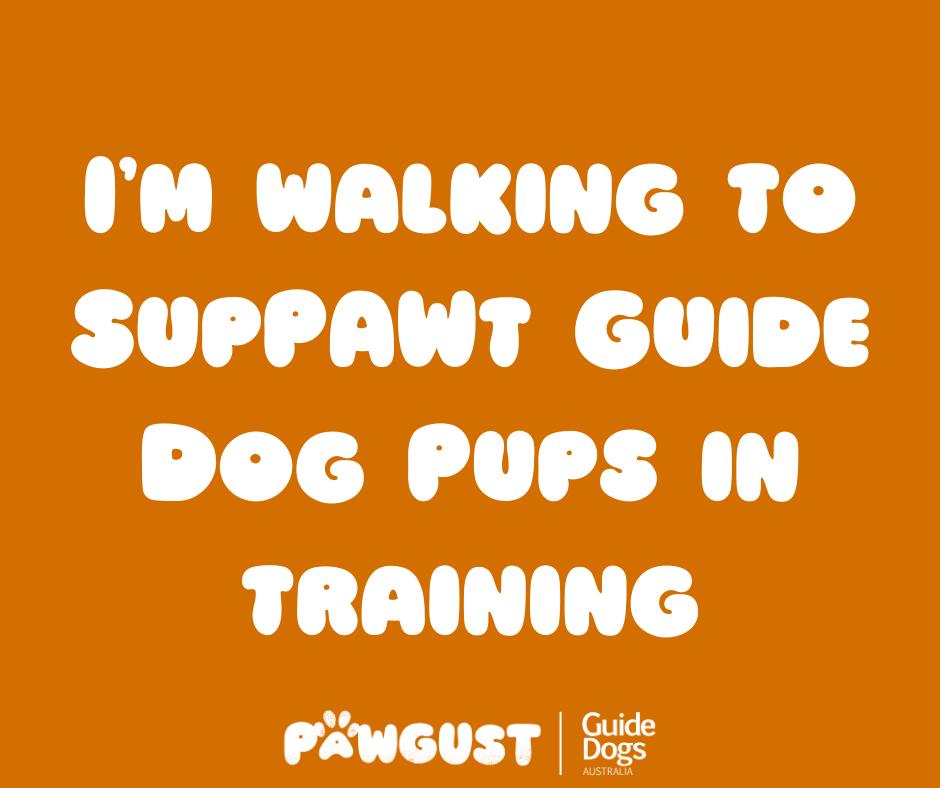 I'm walking to suppawt